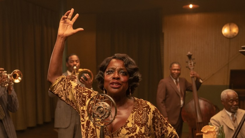 Ma Rainey played by Viola Davis